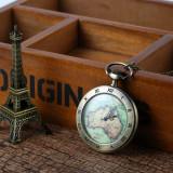 Ceas de buzunar cu lant Quartz Vintage