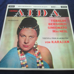 Verdi, Tabaldi, Bergonzi, von Karajan - Aida Highlights _ vinyl, LP _ Decca(UK) - Muzica Opera decca classics, VINIL