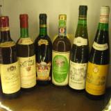 6 sticle  vin ALB,   lot (33) recoltare  1971/72/73/75/79/81, Sec, Europa