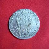 Moneda 20 kr. 1796 Francisc II Austria litera B, argint, urma de agatatoare, Europa