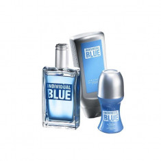 Individual Blue Avon + gel dus + roll on - Parfum barbati Avon, Apa de toaleta, 100 ml