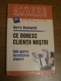 Ce doresc clientii nostri - Ghid pentru dezvoltarea afacerii  - H. Beckwith 2007, Polirom