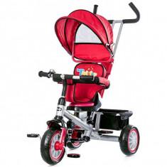 Tricicleta cu copertina si sezut reversibil Chipolino Twister Red - Tricicleta copii