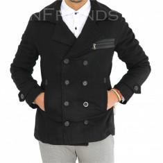 Palton negru - palton barbati COLECTIE NOUA - cod 9543 - BLACN FRiDAY, Marime: L, XL, XXL, Culoare: Din imagine