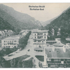 1162 - Caras-Severin, BAILE HERCULANE - old postcard - unused - Carte Postala Banat 1904-1918, Necirculata, Printata