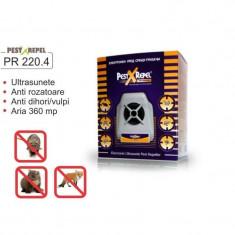 Aparat Pest Repeller cu ultrasunete anti rozatoare si insecte PR 220.4 Electronic - Aparat antidaunatori