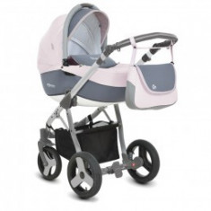 Carucior 3 In 1 Copii 0-3Ani Mommy Pink Kitty - Carucior copii 3 in 1 MyKids