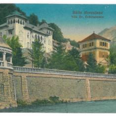 357 - Caras-Severin, BAILE HERCULANE - old postcard - unused - Carte Postala Banat 1904-1918, Necirculata, Printata