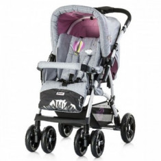 Carucior copii 0 + luni Chipolino Dakota 2 in 1 Roz - Carucior copii 2 in 1