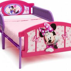 Pat cu cadru metalic Twin Disney Minnie Mouse - Pat tematic pentru copii, Multicolor
