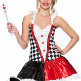 D228 Costum tematic Halloween - Dama de Pica - Costum Halloween, Marime: M