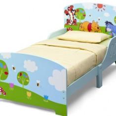 Pat cu cadru din lemn Disney Winnie - Pat tematic pentru copii, Multicolor
