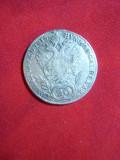 Moneda 20 kr. 1815 Imp. Francisc-  Austria litera A,argint ,urma de agatatoare, Europa