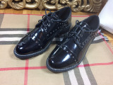 Pantofi dama negri de lac oxford marime 36, 39+CADOU, Cu talpa joasa