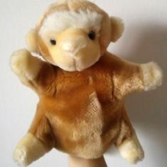 Marioneta teatru de papusi, papusa manuala (pe mana), maimuta - Jucarii plus