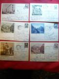 Set Carti Postale Ilustrate - Imagini din Bucuresti 1954-56 -f.rare ,fara cod