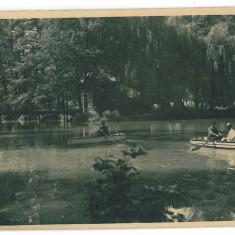 454 - RM. VALCEA, Lacul ZAVOI - old postcard, real PHOTO, CENSOR - used - 1943 - Carte Postala Oltenia dupa 1918, Circulata, Fotografie