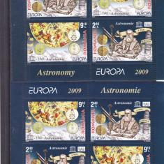 EUROPA ASTRONOMIE, 2009, BLOCURI IN PERECHE, MNH, ROMANIA. - Timbre Romania, Istorie, Nestampilat
