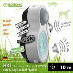 Aparat anti caini pisici cu ultrasunete portabil HK1 70565 - Aparat antidaunatori