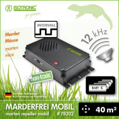 Aparat anti-rozatoare cu ultrasunete auto Marder-Frei Portabil 78302 - Aparat antidaunatori