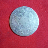 Moneda 20 kr. 1808 Imp. Francisc- Austria litera A, argint, urma de agatatoare, Europa