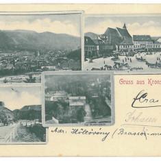 2245 - Litho, BRASOV - old postcard - used - 1899 - Carte Postala Transilvania pana la 1904, Circulata, Printata
