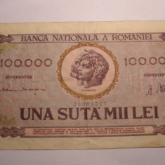 100000 lei 1947 Ianuarie