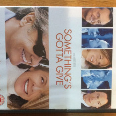 SOMETHING'S GOTTA GIVE - 2003 - FILM DVD ORIGINAL - Film romantice, Engleza