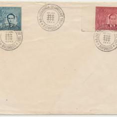 ROMANIA 1941 Majadahonda serie 2 timbre pe plic FDC stampila speciala legionara