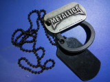 Dog tag   rocker Metallica original  cu silencer