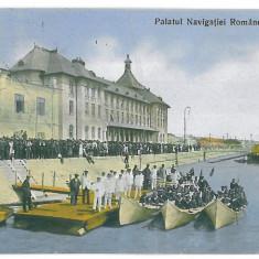 1338 - GALATI, harbor, boats - old postcard - used - 1912 - Carte Postala Moldova 1904-1918, Circulata, Printata