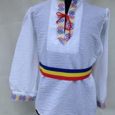 IE 4-5-6 ANI ( costum popular -national) COPII marimi produs in Romania, Marime: One size, Culoare: Alb