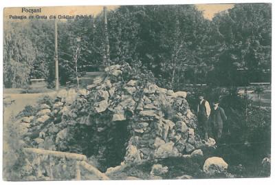 3017 - Vrancea, FOCSANI, The Public Garden, Grotto - old postcard - used - 1911 foto