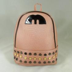 Rucsac/ghiozdan dama mare roz cu capse+CADOU