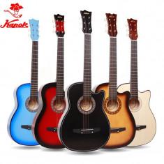 Chitara acustica pentru incepatori culoare negru