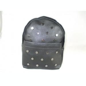 Rucsac/ghiozdan dama negru cu capse+CADOU