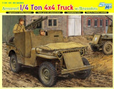 + Kit scara 1/35 Dragon 6748 - Armored 1/4 Ton 4x4 Truck w/Bazooka +