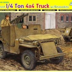+ Kit scara 1/35 Dragon 6748 - Armored 1/4 Ton 4x4 Truck w/Bazooka + - Macheta auto