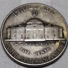MONEDA SUA - FIVE CENT - 5 CENTI - 1945, America de Nord