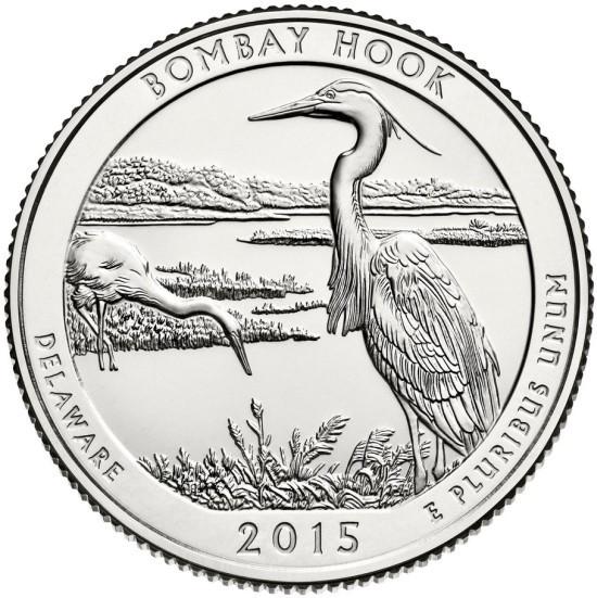 USA 25 cent 2013 P UNC Bombay Hook
