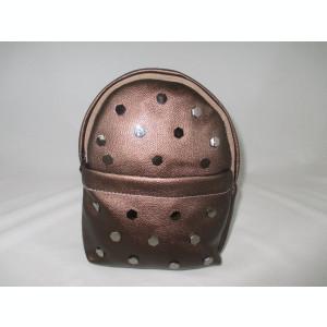 Rucsac/ghiozdan dama maro cu capse+CADOU