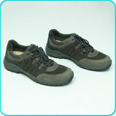 NOI, DE FIRMA → Pantofi sport—adidasi dama, fiabili, piele, ARA → femei | nr. 41 - Pantof dama Ara, Culoare: Gri, Piele naturala, Cu talpa joasa
