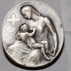 INSIGNA CRUCEA ROSIE - 1945 - HUGUENIN - ELVETIA, Europa