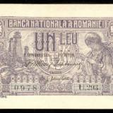 Z548 ROMANIA 1 LEU 1915 VICEGUVERNATOR NECIRCULATA UNC