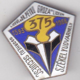 Insigna aniversara 375 ani Bilingv Liceul Dr Petru Groza Oorheiu Secuiesc
