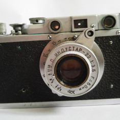 Aparat foto rusesc FED, metal, vintage, 1955, asemanator cu Leica - Aparate Foto cu Film