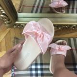 Papuci dama roz cu fundita marime 38, 40+CADOU