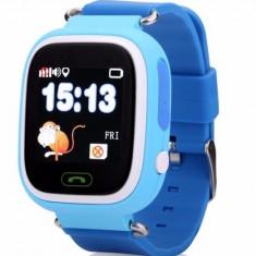 Ceas Gps Copii iUni Kid100, Touchscreen, BT, Telefon incorporat, Buton SOS, Blue + Spinner Titirez Cadou - Smartwatch
