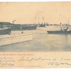 3503 - Litho, GALATI, Military Navy Arsenal - old postcard - used - 1905 - Carte Postala Moldova 1904-1918, Circulata, Printata