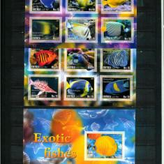 Eritrea - PESTI - 3 Blocuri nestampilate